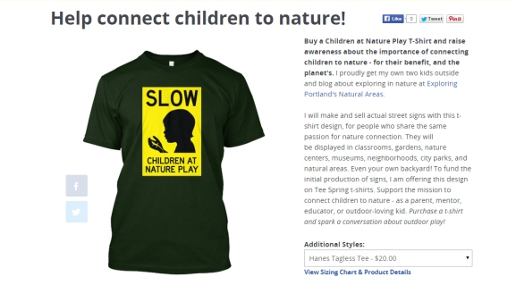 Help connect children to nature!   Teespring